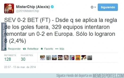 282247 - Según los datos, el Sevilla necesita un partido épico para pasar