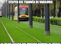 Enlace a El césped del tranvía de Varsovia