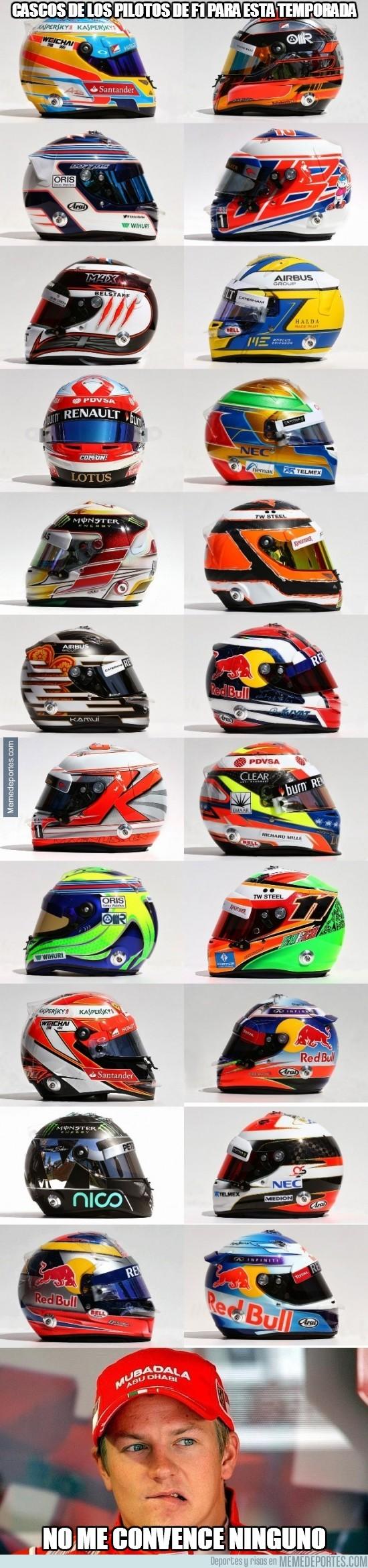 282462 - Cascos de los pilotos de f1 para esta temporada