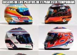 Enlace a Cascos de los pilotos de f1 para esta temporada
