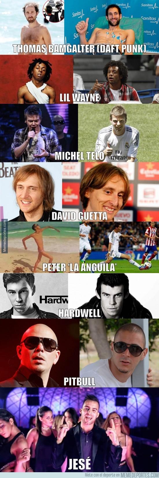 282567 - El Madrid ficha estrellas del fútbol... y de la música