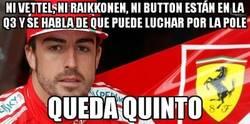 Enlace a Ni Vettel, ni Raikkonen, ni Button están en la Q3 y se habla de que puede luchar por la pole