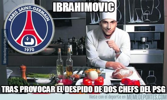 283055 - Ibrahimovic tras provocar el despido de 2 chefs del PSG
