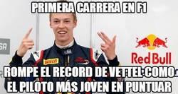 Enlace a Kvyat le quita un record a Vettel