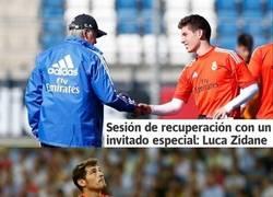 Enlace a Luca Zidane, portero del cadete A