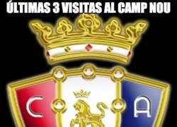 Enlace a Últimas 3 visitas del Osasuna al Camp Nou