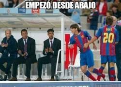 Enlace a Messi empezó desde abajo