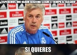 Enlace a ¿Benzema estará para el clásico?