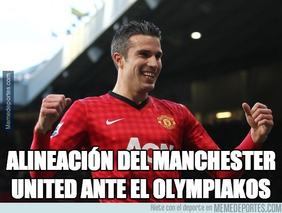 285254 - La alineación del Manchester United ante el Olympiakos
