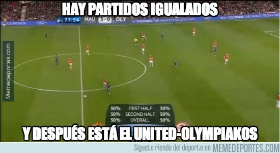 285276 - Manchester United-Olympiakos, 50%-50%