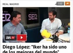 Enlace a Diego López dándonos un poco de que hablar...