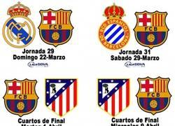 Enlace a Y éste es el duro calendario que tiene el Barça este final de temporada
