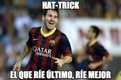 Enlace a Messi se estaba preparando para el clásico