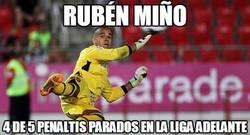 Enlace a Rubén Miño, el Diego Alves de la Liga Adelante