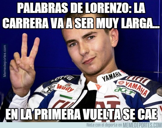 287917 - Palabras de Lorenzo ayer mismo: 'La carrera va a ser muy larga'