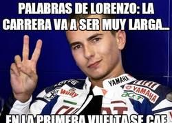 Enlace a Palabras de Lorenzo ayer mismo: 'La carrera va a ser muy larga'