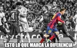 Enlace a Todos discutiendo, Messi sólo pensando en el partido