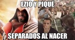 Enlace a Ezio y Piqué, separados al nacer