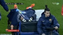 Enlace a GIF: La imagen que ningún culé quería ver, Valdés se va lesionado