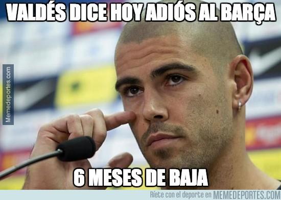 288881 - Valdés dice hoy adiós al Barça