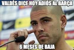 Enlace a Valdés dice hoy adiós al Barça
