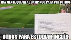 Enlace a Hay gente que va al Camp Nou para ver fútbol