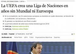 Enlace a La UEFA crea una Nueva Liga de Naciones, ¿qué te parece?