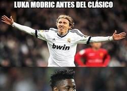 Enlace a Luka Modric antes y después del clásico