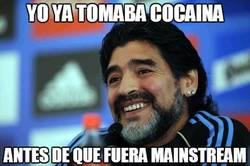 Enlace a Maradona ya lo hacía