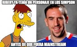Enlace a Ribery ya tenía un personaje en los Simpson