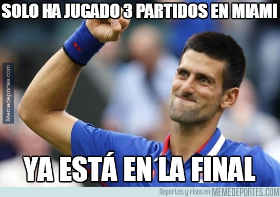 289930 - Djokovic, 3 partidos y a la final de Miami