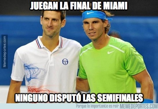 290086 - Nadal y Djokovic juegan la final de Miami