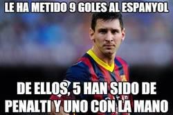 Enlace a Messi le ha metido 9 goles al Espanyol