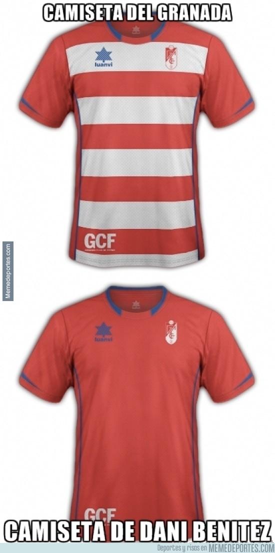 290324 - Camiseta del Granada de Dani Benítez
