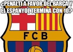 Enlace a ¿Penalti a favor del Barça y el Espanyol termina con 10?
