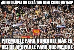 Enlace a Pitos para Diego López en el Bernabeu