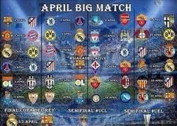 Enlace a Calendario de abril. ¡Partidazos!