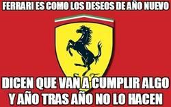 Enlace a Ferrari es como los deseos de año nuevo