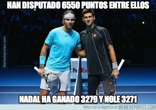 291218 - Flipante la igualdad entre Nadal y Djokovic