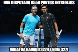 Enlace a Flipante la igualdad entre Nadal y Djokovic