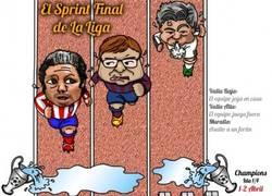 Enlace a ESPECTACULAR INFOGRAFÍA del tramo final de Liga de los 3 favoritos al título