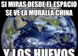 Enlace a Si miras desde el espacio se ve la Muralla China