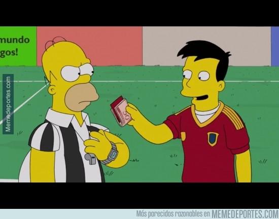 291618 - En el último capítulo de los Simpson, también aparece Xavi sobornando al árbitro