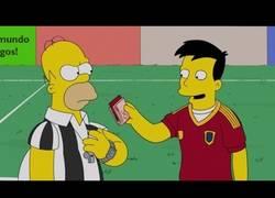 Enlace a En el último capítulo de los Simpson, también aparece Xavi sobornando al árbitro