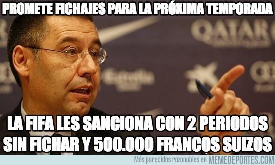 292300 - La FIFA castiga al Barcelona sin fichar hasta junio de 2015 por fichajes ilegales