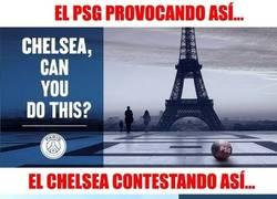 Enlace a El pique entre PSG y Chelsea en las redes sociales
