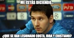 Enlace a Messi, te has quedado solo en pie