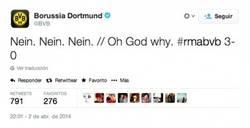Enlace a El Borussia resume el partido en Twitter