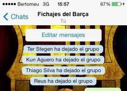 Enlace a Así ha quedado el grupo de Whatsapp de los fichajes del Barça