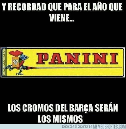 293198 - Los cromos de Panini del Barça serán los mismos